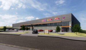 Architects model of CSS Group building - Claylands Business Park, Paignton